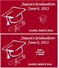 Graduation Scratch Off - Cap & Diploma Outline (background color can be changed)