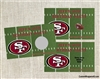 Football Scratch Off - Football Field 49ers (team can be changed)