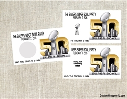 Super Bowl Scratch Off Ticket - Super Bowl 2