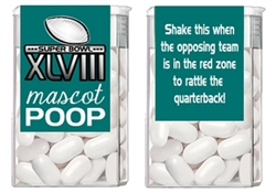 Super Bowl Tic Tacs - Mascot Poop (background color can be changed)