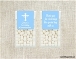 Baptism Tic Tac - Cross (background color can be changed)