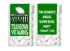 Super Bowl Tic Tacs - Touchdown Vitamins (background color can be changed)