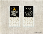 Adult birthday party favors tic tacs shine like a star