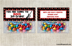 Back to School Treat Bag Topper - Guitar You Rock