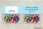 Baptism / First Communion / Confirmation Treat Bag Topper - Blue Cross