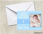 Baptism photo thank you card
