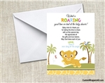 Lion King baby shower thank you card