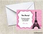 Paris Eiffel Tower thank you card