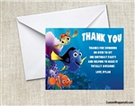 Finding Nemo Dory Thank You Card Birthday Party