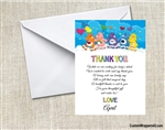 Care Bears baby shower thank you card