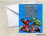 Avengers Thank You Card Birthday Party
