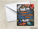 Finding Dory Thank You Card Birthday Party Chalkboard Style