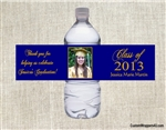 Graduation Water Bottle Label - Photo