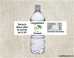 Graduation Water Bottle Label - Cap, Diploma & Stars (colors can be changed)
