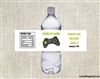 Birthday Water Bottle Label - Video Game