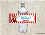 Birthday Water Bottle Label - Carnival / Circus