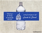 Wedding Water Bottle Label - Fairytale Castle