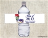 Graduation Water Bottle Label - Red Rose
