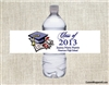 Graduation Water Bottle Label - Cap & Diploma