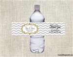 Baby shower water bottle label