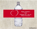 Valentine's Day Water Bottle Label