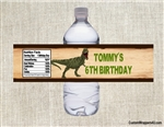 Dinosaur bottle label