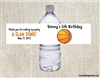 Basketball water bottle label