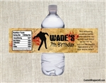 Zombie water bottle label