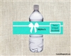 Bridal Shower Water Bottle Label - Tiffany