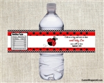 Birthday Water Bottle Label - Ladybug