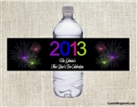 New Year's Eve water bottle labels