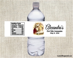 First Communion Water Bottle Label - Jesus & Child