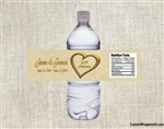 Anniversary Water Bottle Label - Heart