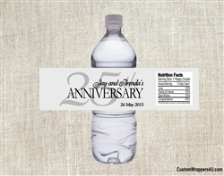Anniversary water bottle label