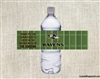 Football Water Bottle Label - Football Field (team can be changed)