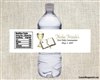 First Communion Water Bottle Label - Gold Chalice & Bible