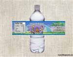 Camping campfire water bottle label