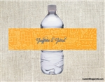 Egyptian Wedding Water Bottle Label