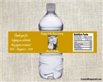 Anniversary Water Bottle Label - Photo (background color can be changed)