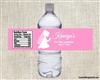 First Communion Water Bottle Label - Shadow Kneeling (boy or girl)