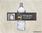 Graduation Water Bottle Label - Chalkboard Photo Picture