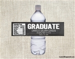 Graduation Water Bottle Label - Chalkboard Graduate