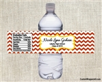 Graduation Water Bottle Label - Chevron (colors can be changed)
