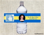Graduation Water Bottle Label - Photo Picture Stripe (colors can be changed)