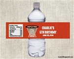 Birthday Water Bottle Label - Basketball 1