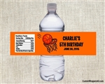 Birthday Water Bottle Label - Basketball 2