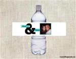 Wedding Water Bottle Label - Photo & (color can be changed)