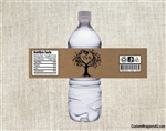 Wedding Water Bottle Label - Tree Initials