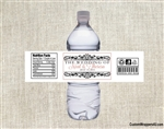 Wedding Water Bottle Label - Scroll