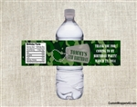 Birthday Water Bottle Label - Army Camouflage